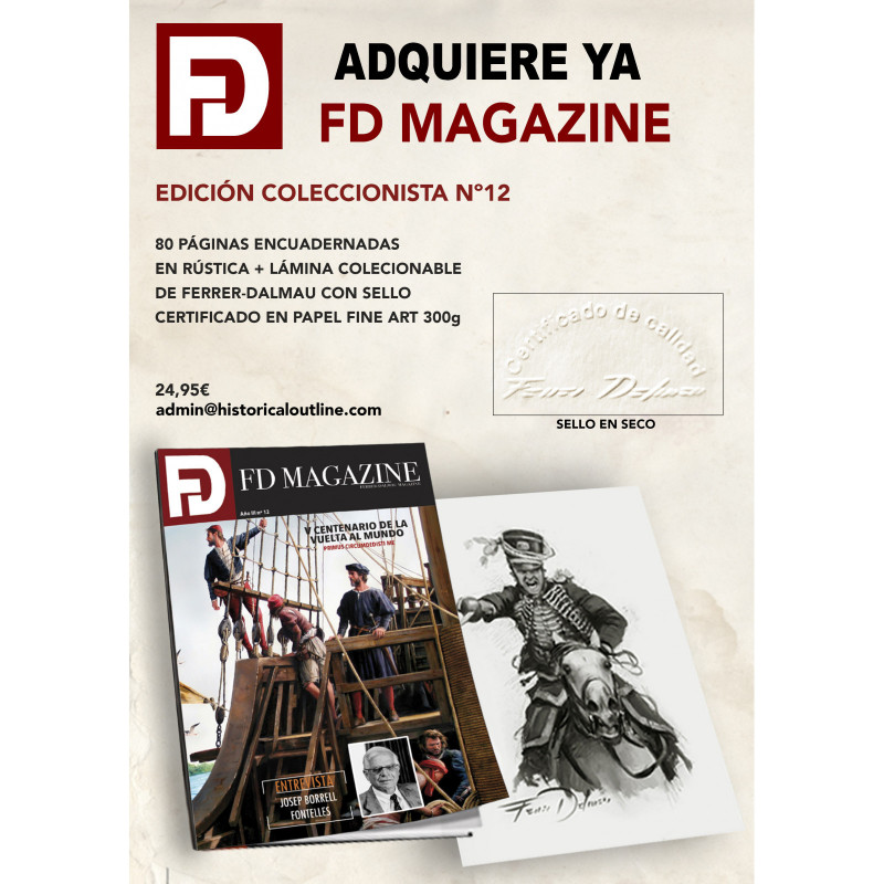FD MAGAZINE Nº 12. Boceto exclusivo