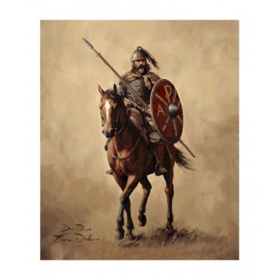 Don Pelayo a caballo